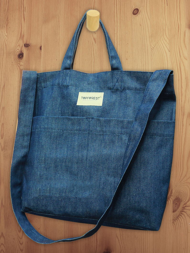 2 WAYs Denim Tote Bag B05017