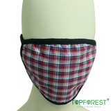 2pcs - Checkered Pattern Cloth Mask(Adult)  M09020