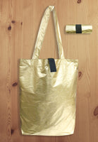 Western Shiny Gold Foldable Shopping Bag