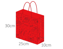 3D Eco-Paper Gift Bag 10pcs SPB004