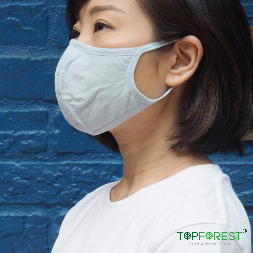 3D Blue Cotton Fabric Eco-Mask 1 Set(2pcs) M02020