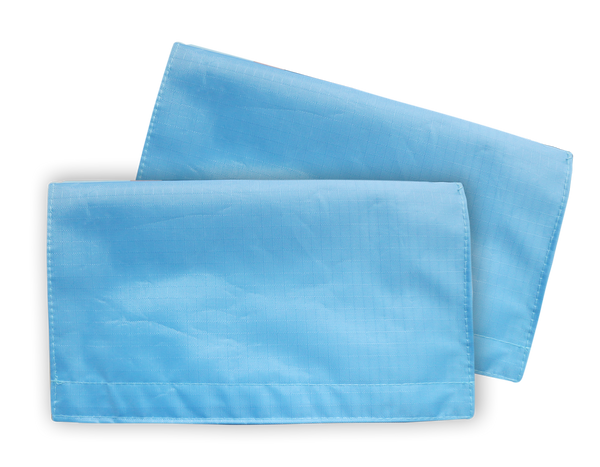 Light Blue Plain 1 Set Water-resistant Portable Mask Wallet (2pcs) M05020