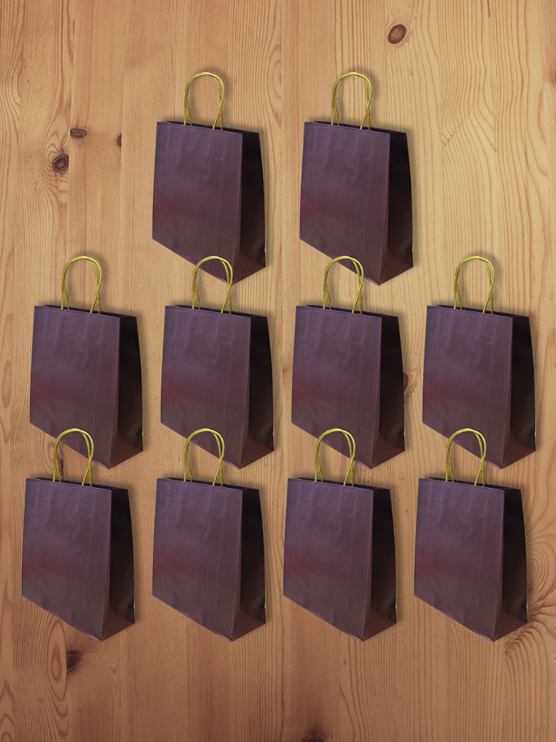 3D Eco-Paper Purple Gift Bag 10pcs SPB005