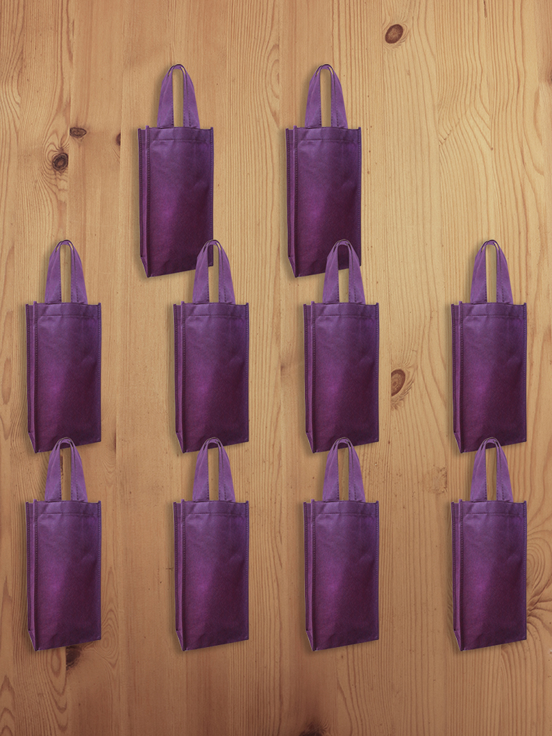 Non-woven Gift Eco-Wine Bag 10pcs