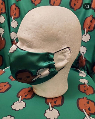 Silk Green PIFFHead Covid-19 Prevention Mask