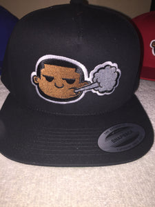 """Piff Head"" Logo SnapBack (BackBlock Black)"