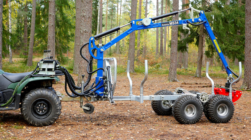 Avesta-Vagnen MS34 ATV forest trailer