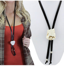 Load image into Gallery viewer, * white slab bolo necklace