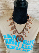 Load image into Gallery viewer, Bronze and white squash necklace set