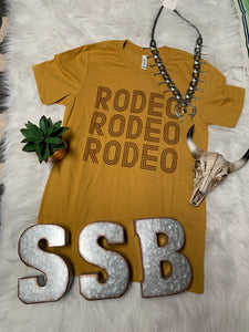 Mustard rodeo rodeo rodeo tee