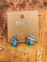 Load image into Gallery viewer, Natural turquoise post earrings