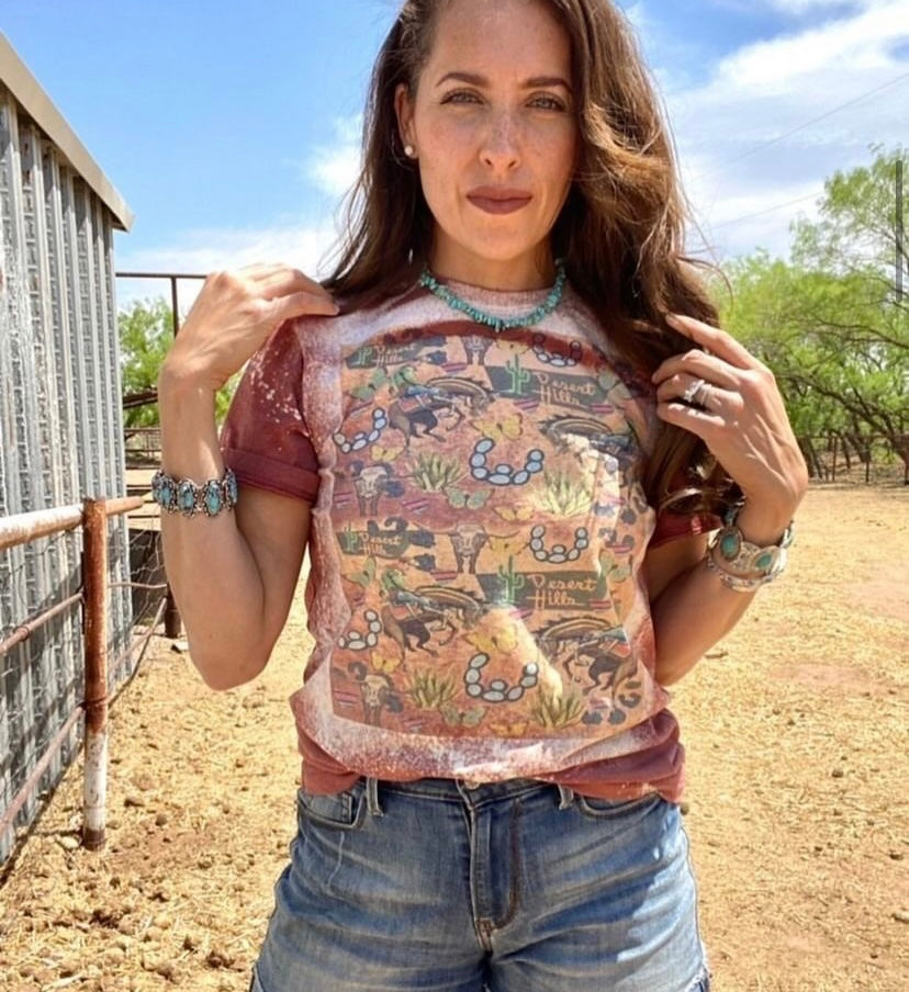 Southwestern graphic clip art tee