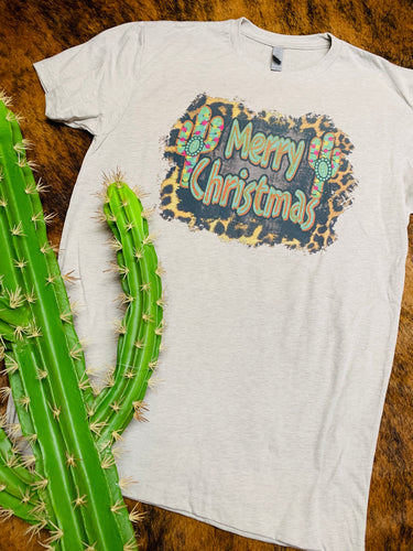 Merry Christmas cactus tee (sale)