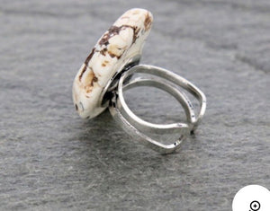 White slab ring