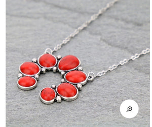 Simple red squash necklace