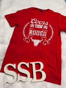 Coors rodeo tee in red