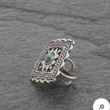 Load image into Gallery viewer, Natural turquoise ring