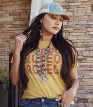 Load image into Gallery viewer, Mustard rodeo rodeo rodeo tee