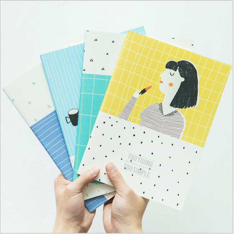 Cheerful Notebooks - Lined Notebook (Pack of 4 Study)