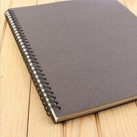 Retro Kraft Paper Coil Notebook Creative Diary Simple Workbook B5 Homework Learning Office Supplies