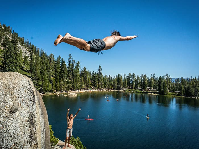 The Art of Cliff Jumping, A How-To Guide with Robert Wall in Lake Tahoe