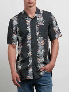 Palm Glitch Short Sleeve Shirt - Stealth