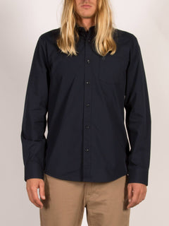 Everett Solid Shirt - Navy