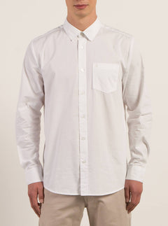 Everett Solid Shirt - White