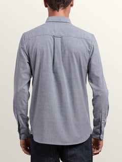 Oxford Stretch Long Sleeve Shirt  - Black
