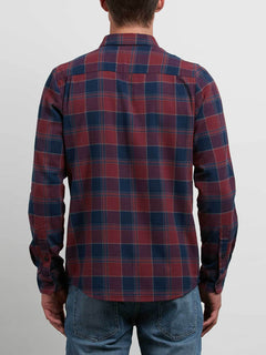 Caden Long Sleeve Shirt - Crimson