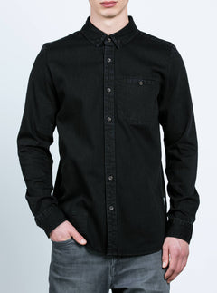 Crowley Long Sleeve Shirt - Black