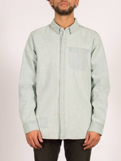 Crowley Long Sleeve Shirt - Cool Blue