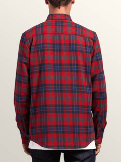 Caden Plaid Shirt - Engine Red