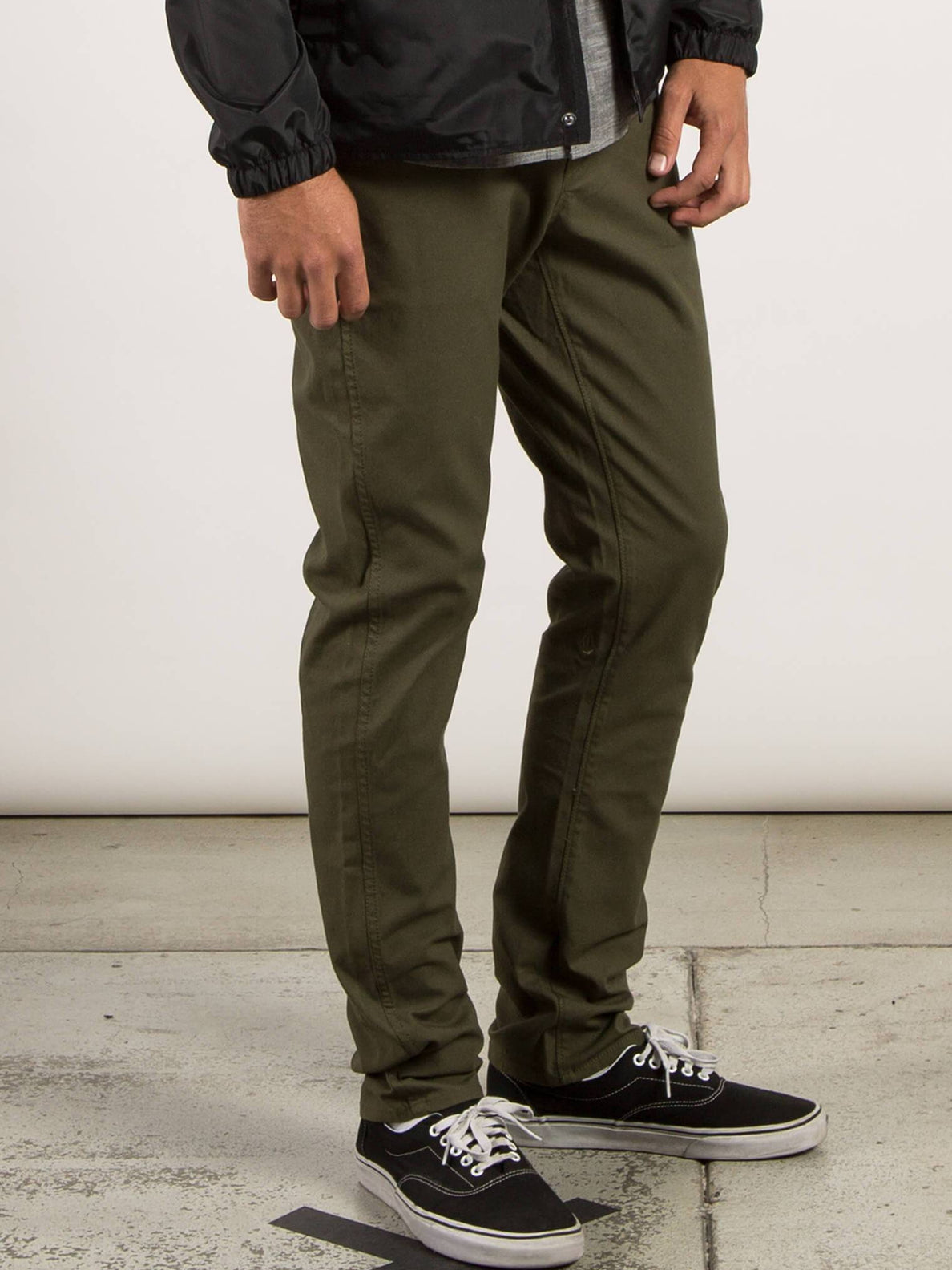 VSm Gritter Modern Tapered Chino Pants - Military