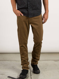 Vorta 5 Pocket Slub Slim Fit Jeans - Mud