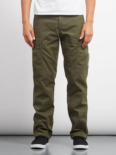 Strngr Reg Tap Cargo Trousers - Military