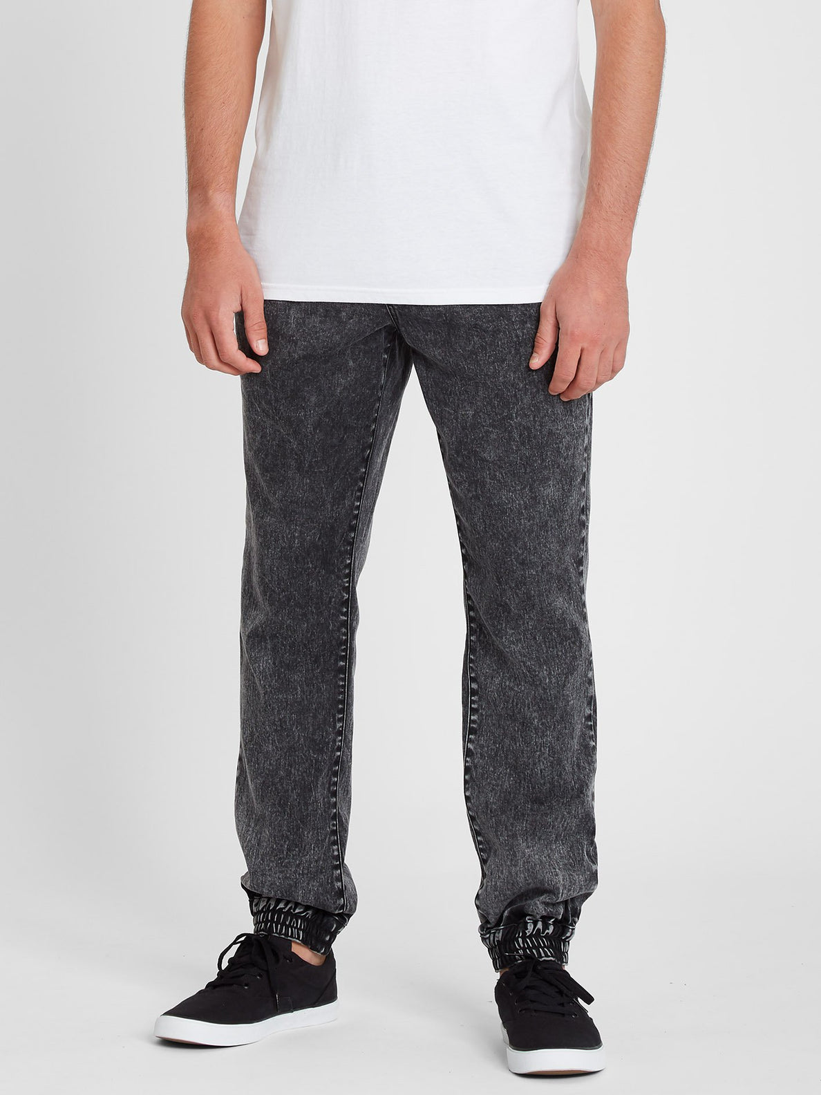 Denim Jogger Pant - Black (A1211901_BLK) [F]