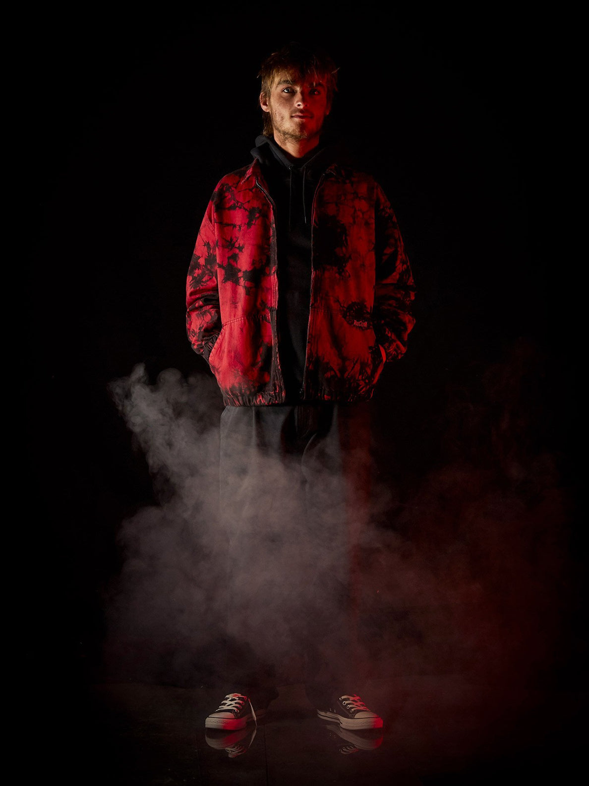 Strange Times Jacket - DEEP RED