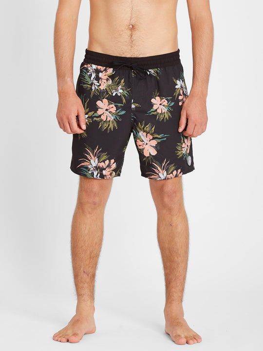"Earthly Delight Trunk 17"" Boardshort - Black (A2512101_BLK) [F]"