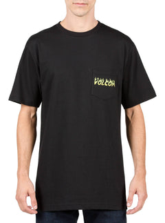Shred Head Pocket Tee - Black