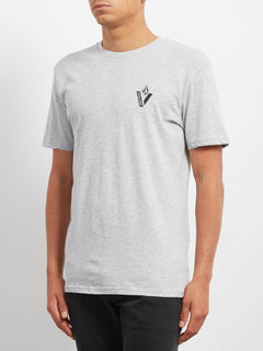 Cut Out T-shirt - Heather Grey