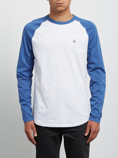 Pen Long Sleeve Tee - Blue Drift