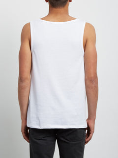Tropical D Heather Tank - White