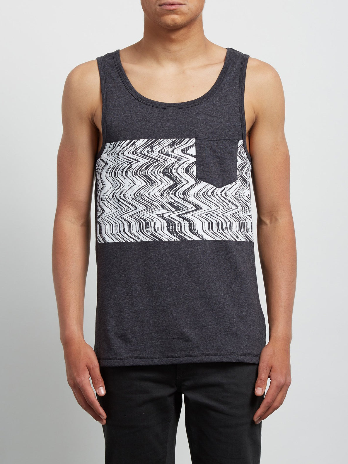 Lofi Heather Tank - Heather Black