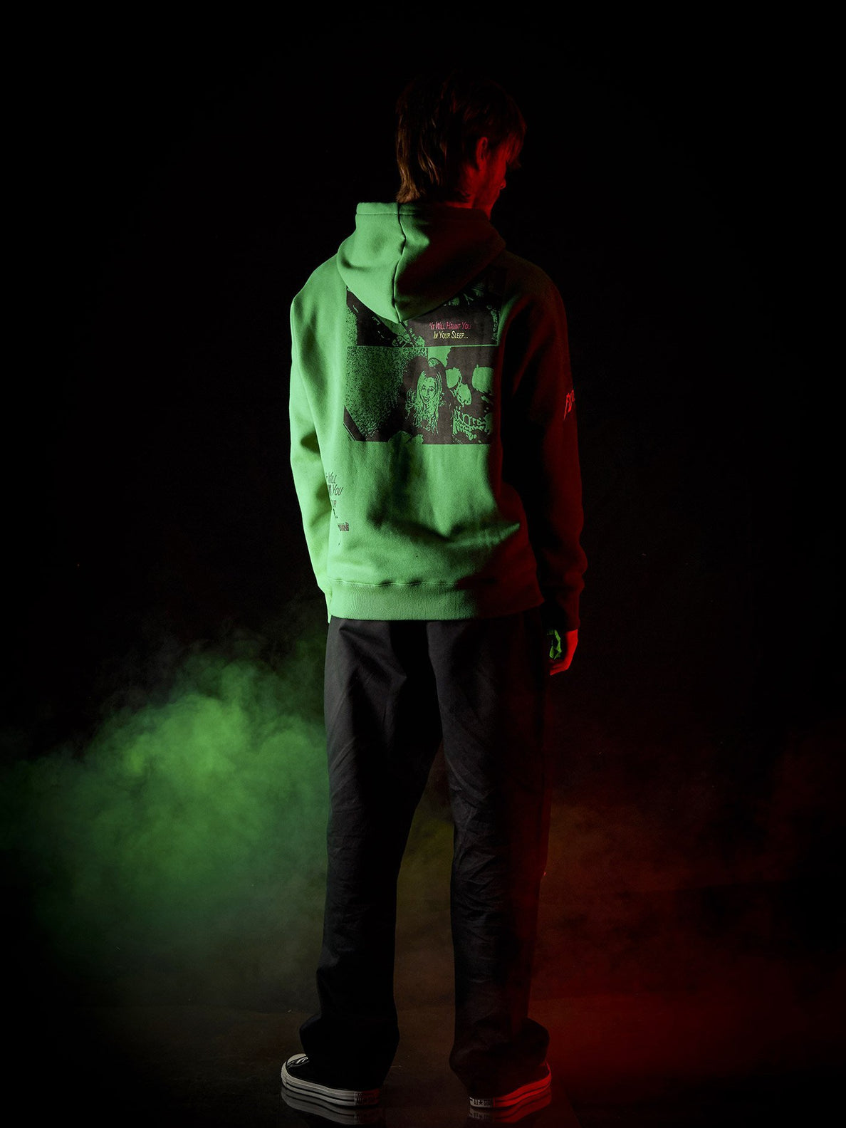 Bits Of Brain Hoodie - SCAROMATIC GREEN
