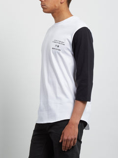 Enabler 3/4 Sleeve Tee - White