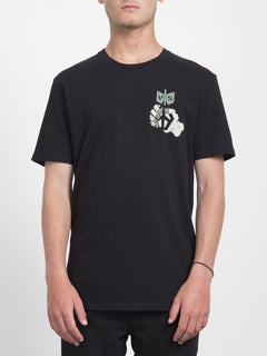 Check Two T-shirt  - Black