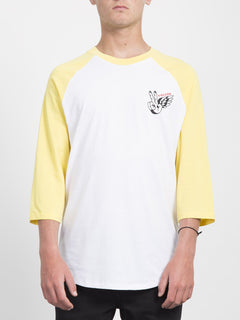 Winged Peace 3/4 T-shirt  - Yellow