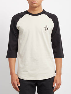 Cutout 3/4 T-shirt - Black