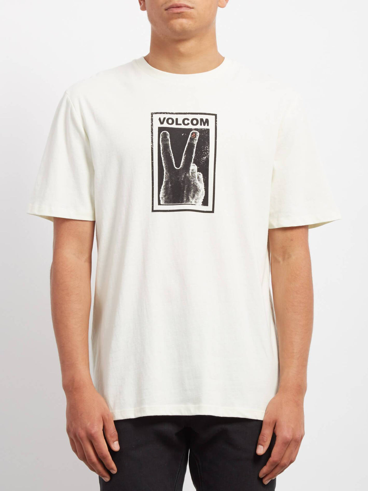 Peace Off  T-shirt - Dirty White
